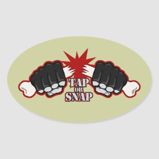Tap or Snap Oval Sticker