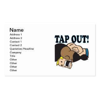 Tap Out Business Card Template