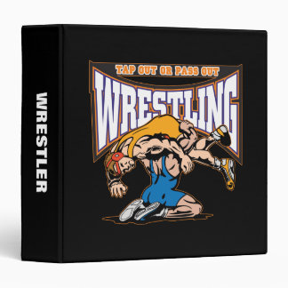 Tap Out Wrestlers 3 Ring Binders