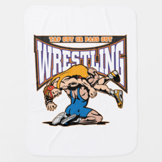 Tap Out Wrestlers Baby Blanket