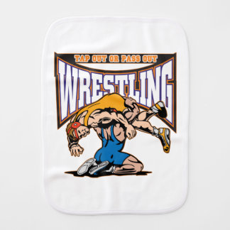 Tap Out Wrestlers Baby Burp Cloth