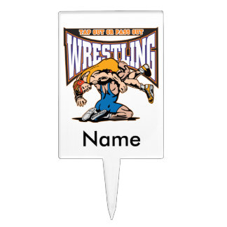 Tap Out Wrestlers Cake Topper