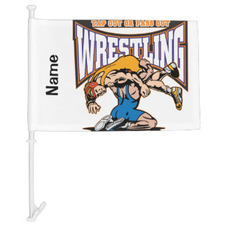 Tap Out Wrestlers Car Flag