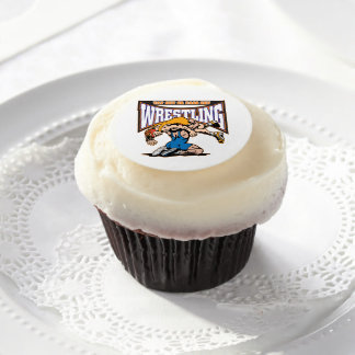 Tap Out Wrestlers Edible Frosting Rounds