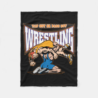Tap Out Wrestlers Fleece Blanket