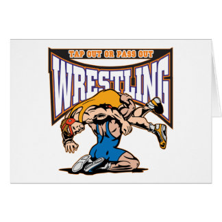 Tap Out Wrestlers Greeting Card