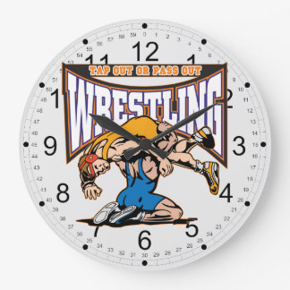 Tap Out Wrestlers Large Clock