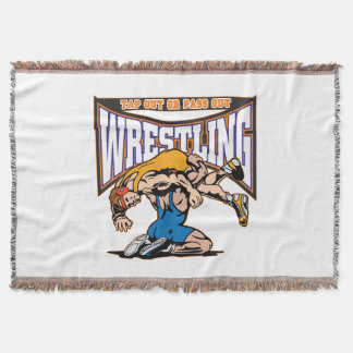 Tap Out Wrestlers Throw Blanket