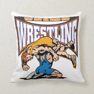 Tap Out Wrestlers Throw Pillow