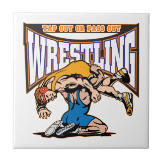 Tap Out Wrestlers Ceramic Tile
