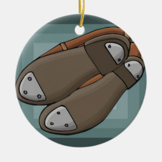 Tap Shoes Ceramic Ornament