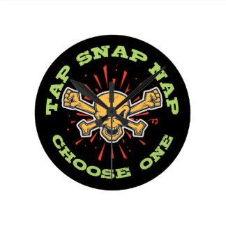 Tap Snap Nap Round Clock