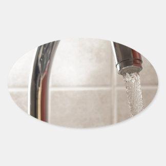 Tap water oval sticker