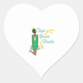 Tap Your Heels Heart Sticker