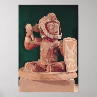 Tapa de la urna con una figura de un guerrero poster