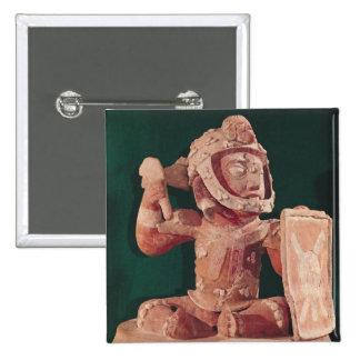 Tapa de la urna con una figura de un guerrero pin cuadrado