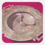 Tapa de un krater pegatina cuadrada