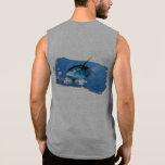 Tapa del tanque para hombre del atún amarillo de camiseta sin mangas