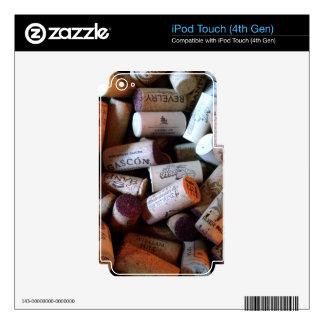 Tapa una abundancia con corcho iPod touch 4G calcomanías