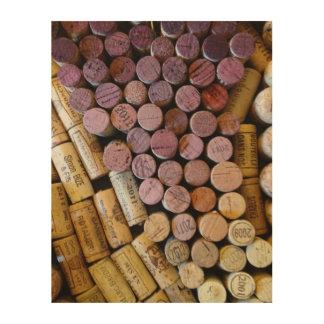 Tapado con corcho impresión en madera
