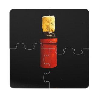 Tapado con corcho posavasos de puzzle