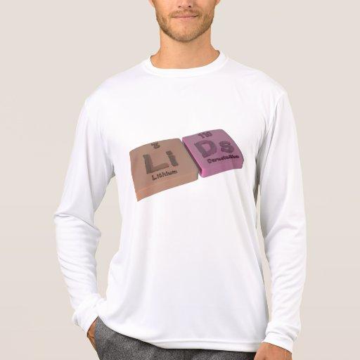 Tapas como el litio y Ds Darmstadtium de Li Camiseta