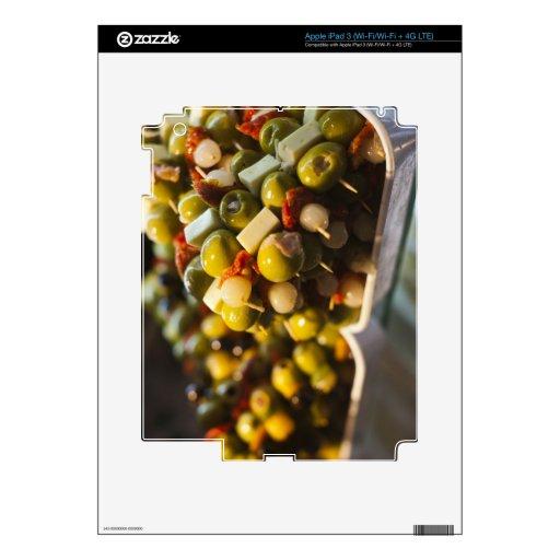 Tapas hechos con las aceitunas rellenas iPad 3 pegatina skin