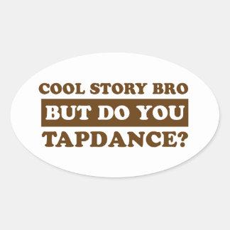 tapdance dance oval sticker