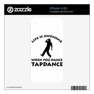tapdance dance iPhone 4 decal