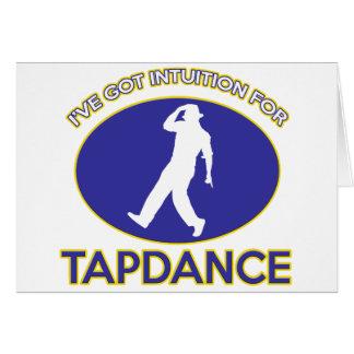 tapdance design greeting cards