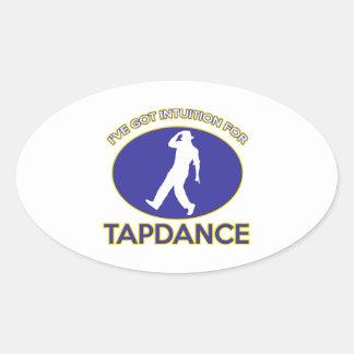 tapdance design oval sticker