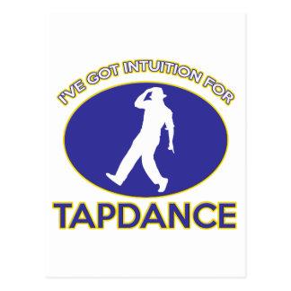 tapdance design post card