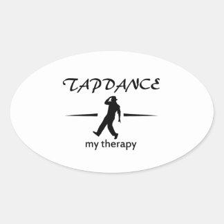 Tapdance designs oval sticker