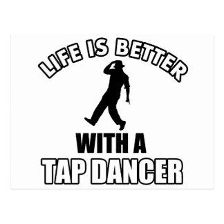 Tapdance designs postcard