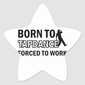 Tapdance designs star sticker