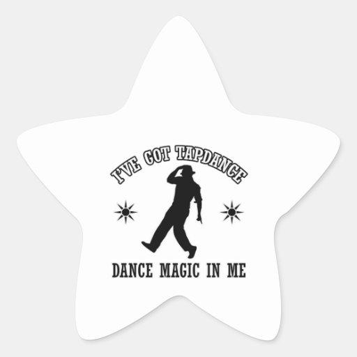 tapdance el diseño de la danza calcomania forma de estrella personalizada