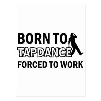 Tapdance los diseños postales