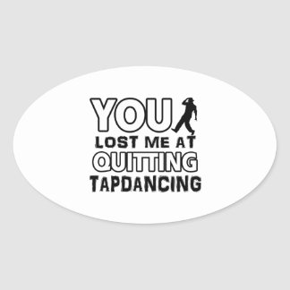 Tapdancing designs will make a great gift item oval sticker