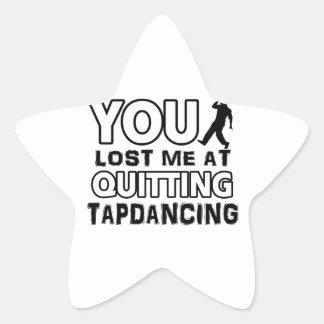 Tapdancing designs will make a great gift item star sticker