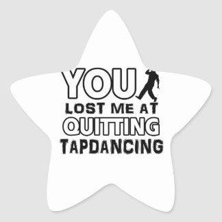 Tapdancing designs will make a great gift item sticker