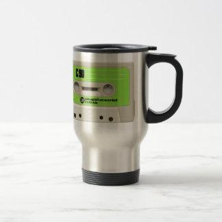 tape cassette travel mug