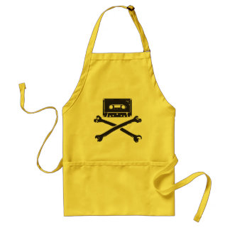 Tape & Crossbones Music Pirate Piracy Home Taping Adult Apron