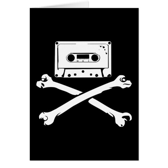 Tape & Crossbones Music Pirate Piracy Home Taping Card