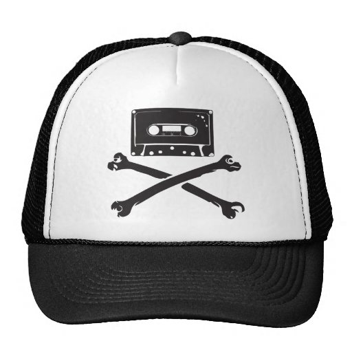 Tape & Crossbones Music Pirate Piracy Home Taping Trucker Hat