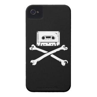 Tape & Crossbones Music Pirate Piracy Home Taping iPhone 4 Case