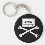 Tape & Crossbones Music Pirate Piracy Home Taping Key Chains