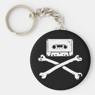 Tape & Crossbones Music Pirate Piracy Home Taping Keychain