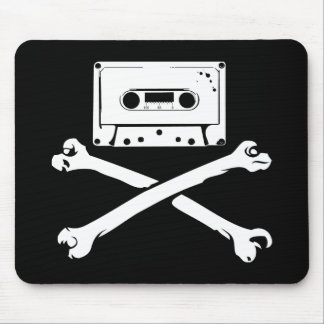 Tape & Crossbones Music Pirate Piracy Home Taping Mouse Pad