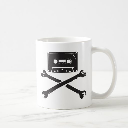 Tape & Crossbones Music Pirate Piracy Home Taping Coffee Mug