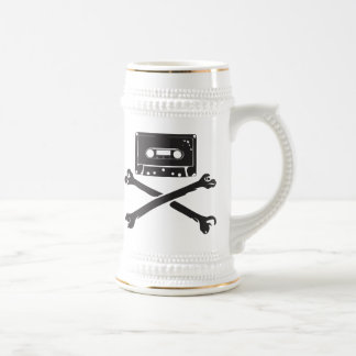 Tape & Crossbones Music Pirate Piracy Home Taping 18 Oz Beer Stein